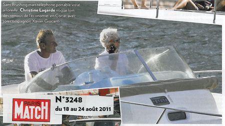 Lagarde en Corse gère la Grande Crise Mondiale - juillet 2011