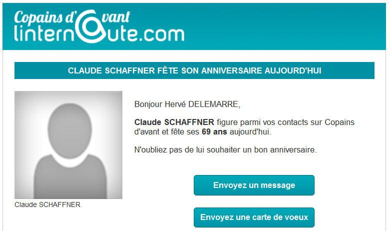 Copains d'avant - Claude Schaffner anniversaire 17 juillet 2014