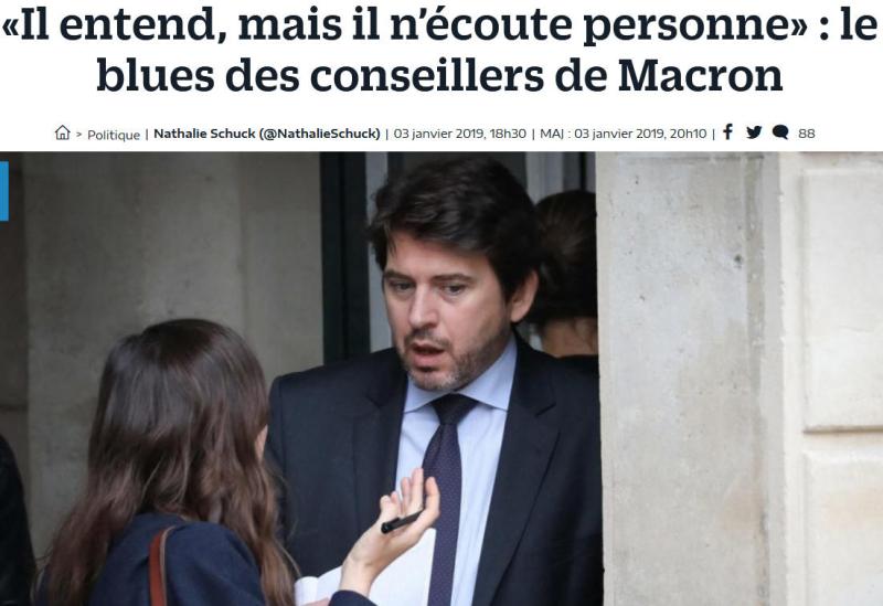 Macron - Il entend mais n'écoute personne