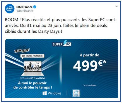 Intel boom les darty days